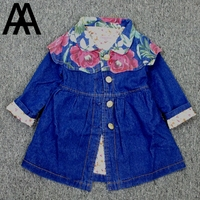 Clearance 2 6T Little Girls Clothes Jeans Coat For Autumn Winter Jeans Long Jacket For Children