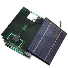 Promotion! 5.2W 12V High Quality Solar Cell + DC Output Polycrystalline Solar Panel For 9V Battery Charging 165*210MM 50PCS/Lot