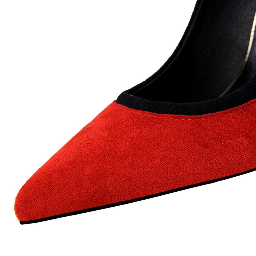 Oficina Zapatos De Cm brown Mujeres Verdes Sexy Femenino Fiesta Orange wine blue Altos 2019 Boda Punta green Sapato Red Gray Tacones Las red Scarpin 10 tzXOC