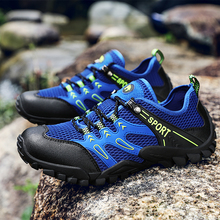 Latest Sneakers Trekking Mesh Breathable Outdoor Hiking Shoes Male Lace Up Mountain Climbing Man Footwear Non-Slip Men Sneakers недорого