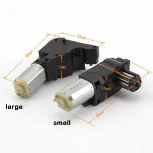 Miniature Geared DC Motor Small Mini Motor 3V 5V Black Digital Camera Geared Motors for DIY Toy