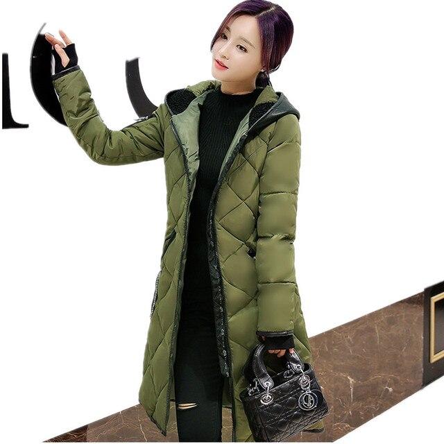 XXXL Amassado Feminino casaco 2016 Nova Jaqueta de Inverno das Mulheres Para Baixo PU Casaco Com Capuz de Slim Senhoras Jaquetas Casacos Parkas Plus Size YY358