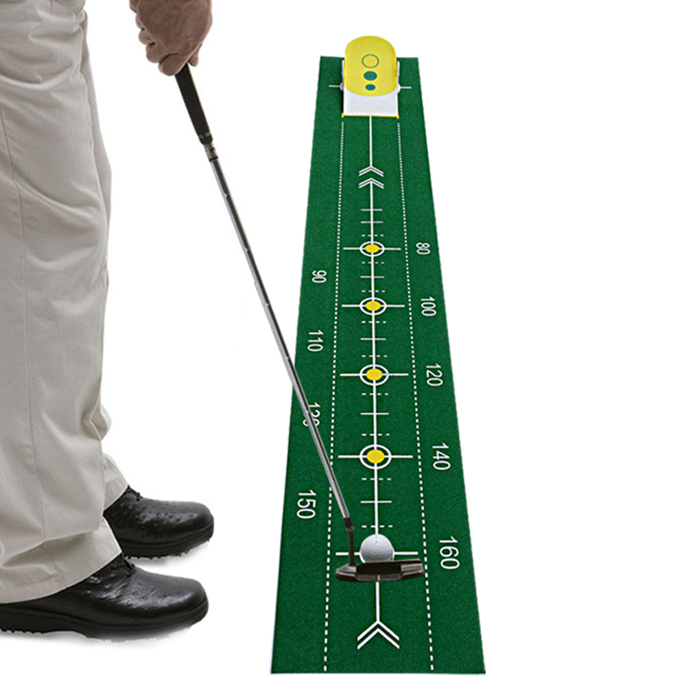 2018 new Golf Putter trainer golf putting green Indoor sports golf putter practice Golf training aids free shipping golf putting mat mini golf putting trainer with automatic ball return indoor artificial grass carpet