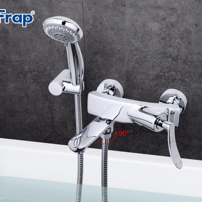 Frap Modern Style Shower Bathroom Faucet Cold and Hot Water Mixer 90 Degree Rotation Switch Crane banheiro torneira monocomF3081 frap new bathroom combination basin faucet shower tap single handle cold and hot water mixer with slide bar torneira f2822