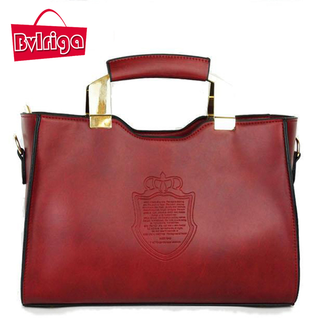 BVLRIGA European and american style women leather handbags leather bag business bag women messenger bags luxury famous brands