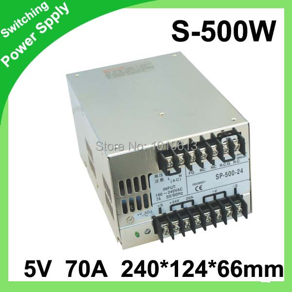 500W 5V 70A Single Output Switching power supply for LED Strip light AC to DC LED Driver 500w 72v 6 9a 220v input single output switching power supply for led strip light ac to dc