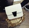 Otoño Nueva Moda Mini de Cuero de LA PU del color del caramelo Crossbody Bolsas Marca de Diseño de Las Señoras Del Bolso de Hombro Bolsas de Mensajero 2017
