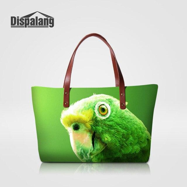 84522d385c Dispalang Womens Fashion Handbag Parrot Animal Print Shoulder Bag Large  Casual Tote Bags Ladies Vintage Business Top handle Bag