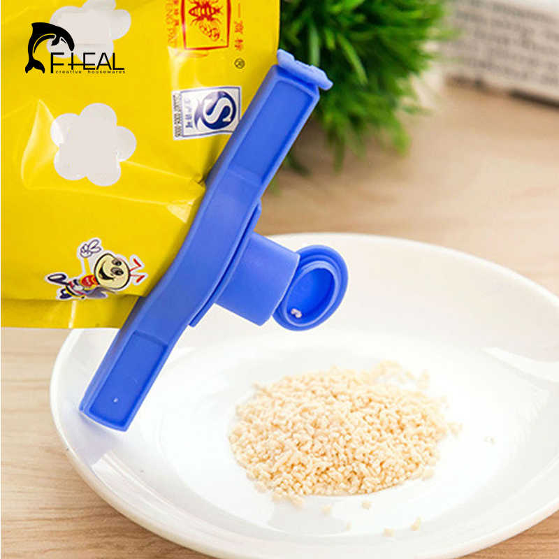 FHEAL Household Plastic Sealing Bag Discharge Nozzle Seal The Food Tube Sealing Clip Seal Clip Trumpet Kitchen Tools