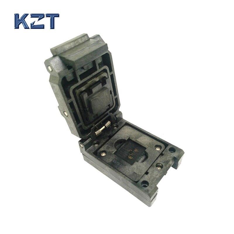 BGA96 Clamshell burn in socket pitch 1.0mm IC size 11*11mm BGA96(11*11)-1.0-CP01NT BGA96 VFBGA96 burn in programmer socket qfn64 mlf64 burn in socket ic test socket ic550 0644 006 g pitch 0 5mm chip size 9 9 flash adapter clamshell programming socket