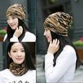 2016 Nuevo 3 Tapa Uso Bufanda de Punto Sombreros de Invierno Para Las Mujeres Camuflaje Hip-Hop Skullies Gorros Señora Girls Gorros Gorros Femeninos