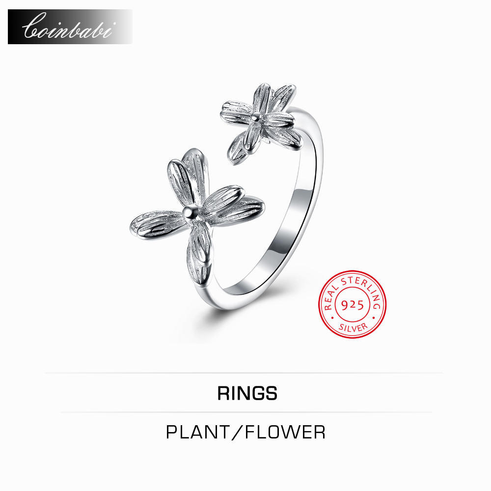 online get cheap electronic resumes com alibaba group ring plant flower 925 sterling silver ring double opening jewelry whole rs whole website direct manufacturers