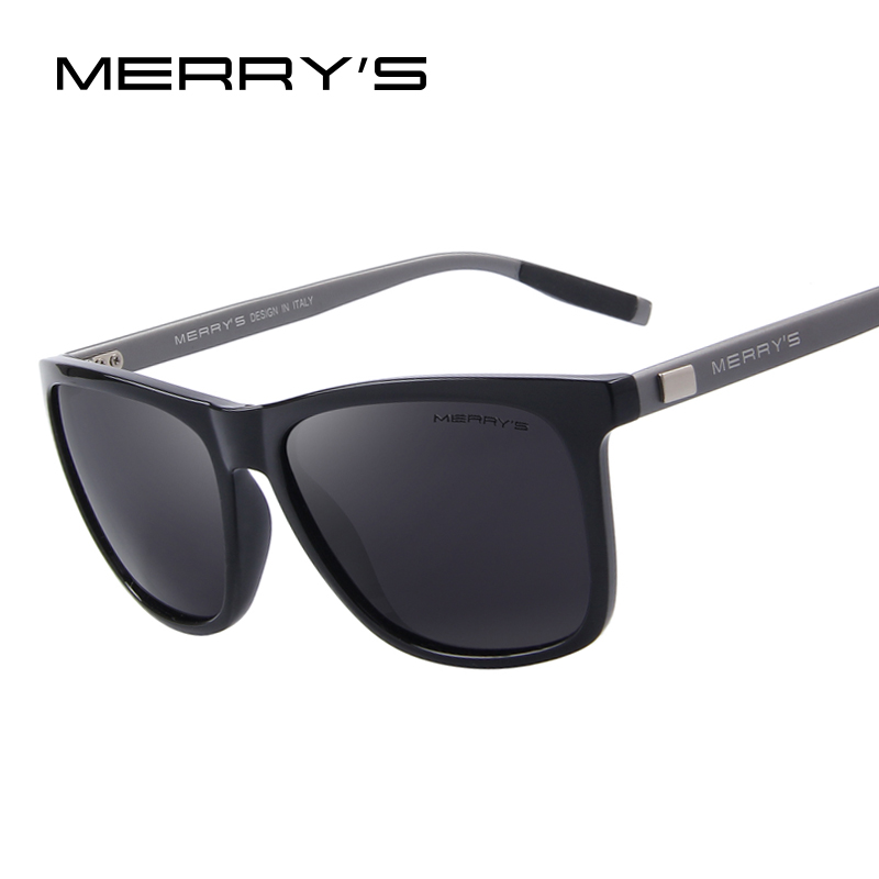MERRY'S Unisex Retro Aluminum Sunglasses Polarized Lens Vintage Sun Glasses..