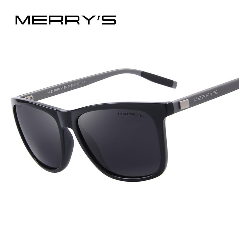 MERRY'S Unisex Retro Aluminium Sonnenbrille Polarisierte Linse Vintage Sonnenbrille Für Männer/Frauen S'8286