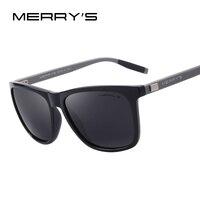 MERRY S Unisex Retro Aluminum Sunglasses Polarized Lens Vintage Sun Glasses For Men Women S 8286