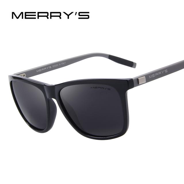 Merry's unisex retro óculos de sol de alumínio polarizado lente do vintage óculos de sol para homens/mulheres s'8286