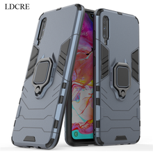 For Samsung Galaxy A70 Case Finger Ring Metal Kickstand Hard Capa Phone Cover