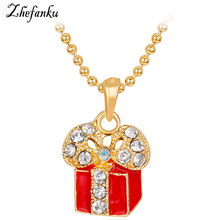 2017 new Christmas Gift Necklace Christmas Series  Santa Claus Statement Chain Anime Necklace Vintage Bronze Jewelry