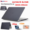 Matte Laptop Case for Apple Macbook Pro 13 Release 2016 A1706 & A1708 Laptop CASE  Notebook Protective cover shell bag + Film