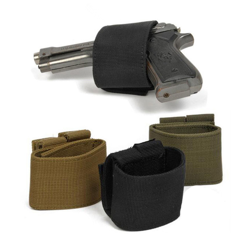 Universal Tactical Airsoft Gun <font><b>Holster</b></font> Hunting Airsoft <font><b>MOLLE</b></font> Pistol Case Bag Hook Loop for Glock 17 18 19 <font><b>1911</b></font> Gun Case image