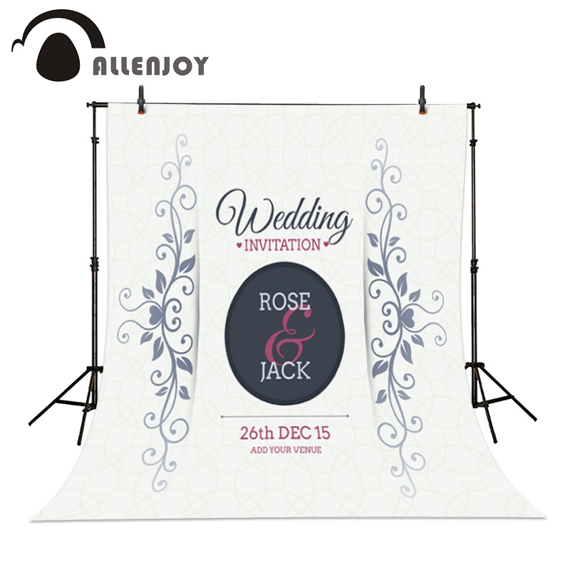 Allenjoy Wedding Party Invitation Background Ornament Template ...