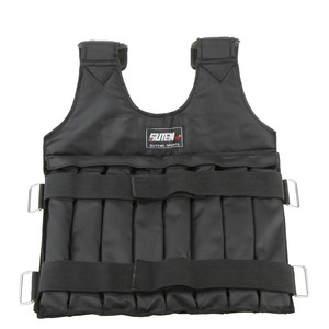 Image 4 - 20kg/50kg Adjustable Weighted Vest Loading Weights Waistcoat for Boxing Training Workout Fitness Equipment Sand Clothing