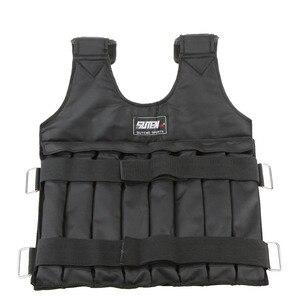 Image 4 - 20kg/50kg Einstellbare Gewichteten Weste Laden Gewichte Weste für Boxing Trainings Workout Fitness Ausrüstung Sand Kleidung