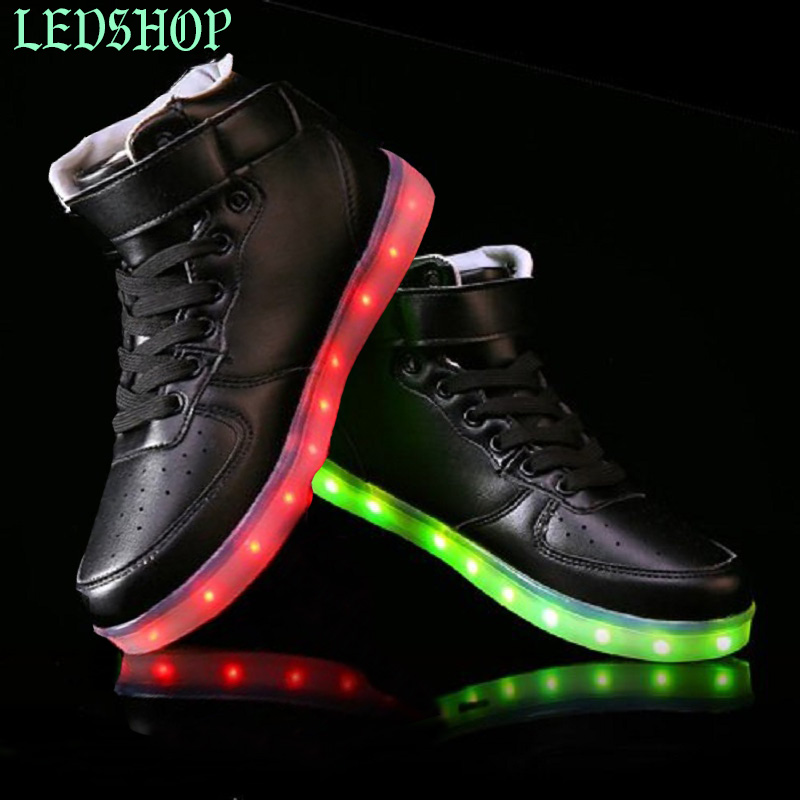 2016 Light Up Led Luminous Shoes Color Glowing Casual Fashion With New Simulation Sole Charge For Men Adults Neon Basket Available In Various Designs And Specifications For Your Selection Men's Shoes Shoes