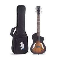 26 inch Full Solid Wood Electric Ukulele Ukelele Intelligent Bluetooth Mini Hawaiian Guitar With Bag Tuner Capo Picks Belt