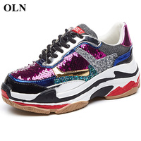 OLN Woman Brand High quality fabric Sport Shoes For Women Comfortably Womens Sneakers Outdoor Athletic Women Running Shoes
