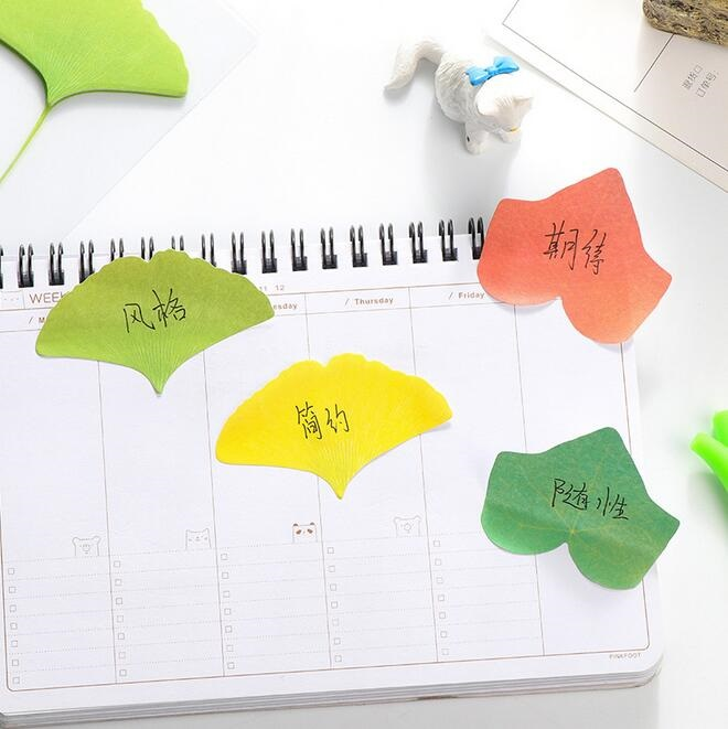 1pack/lot Kawaii Vivid Leaves design Notepad Sticky note Notepads Memopad Writing scratch pad kawaii gift office school supplies