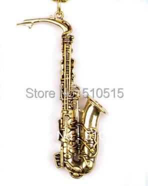 Saxophone Belgium Musical Instruments Pendant Necklace