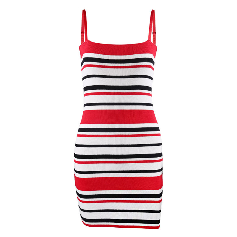 44a9a07597f Susi Rita 2018 Striped Beach Dress Women Sexy Spaghetti Strap Bodycon Dress  Summer Backless Mini Dresses Vestidos Jurken-in Dresses from Women s  Clothing on ...
