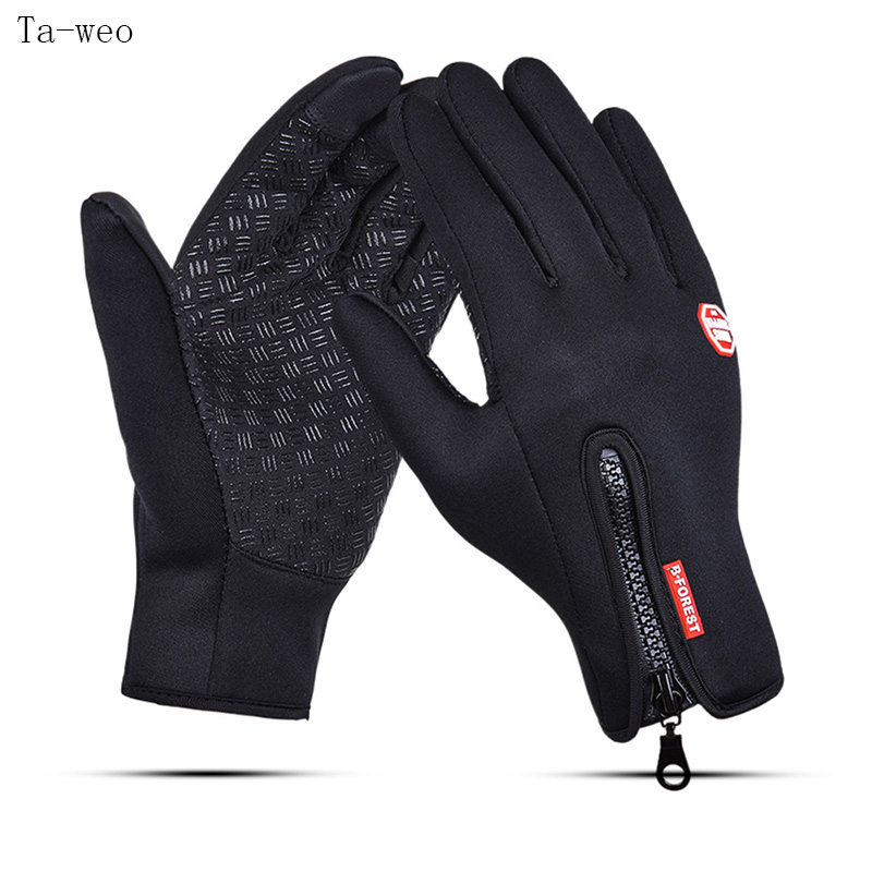 Ta-weo Windproof Waterproof Gloves Motorcycle Downhill Cycling Riding Racing Fleece Gloves Women Winter Gloves