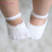 Детские одноцветные хлопковые носки для девочек летние дышащие эластичные короткие носки для малышей от 0 до 5 лет