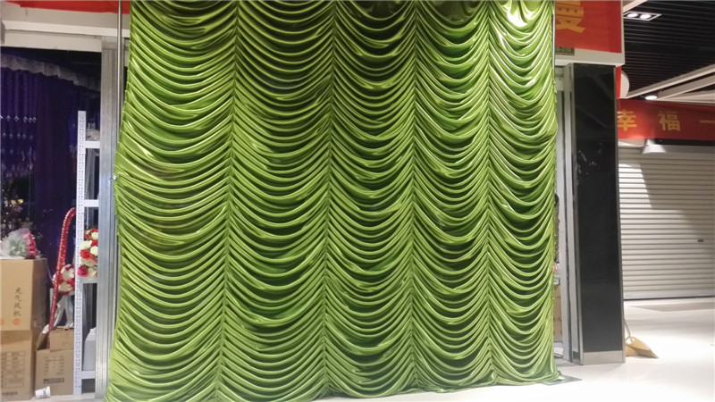free shipping 3x3m white ivory many colors ice silk wedding wave backdrops drapes curtain for party wedding decoration - Silk Drapes