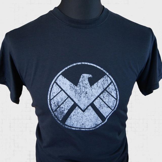 Agents of Shield T Shirt Marvel Avengers Captain America Iron Man Hulk TV Film B Summer Style Cotton Tee Custom Designs T-Shirt