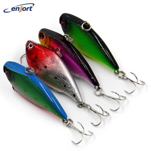 4pcs/lot Vib Fishing lures 5.5CM-10.5G plastic hard bait fish pesca wobbler isca artificial lure swimbait japan jerk sinker