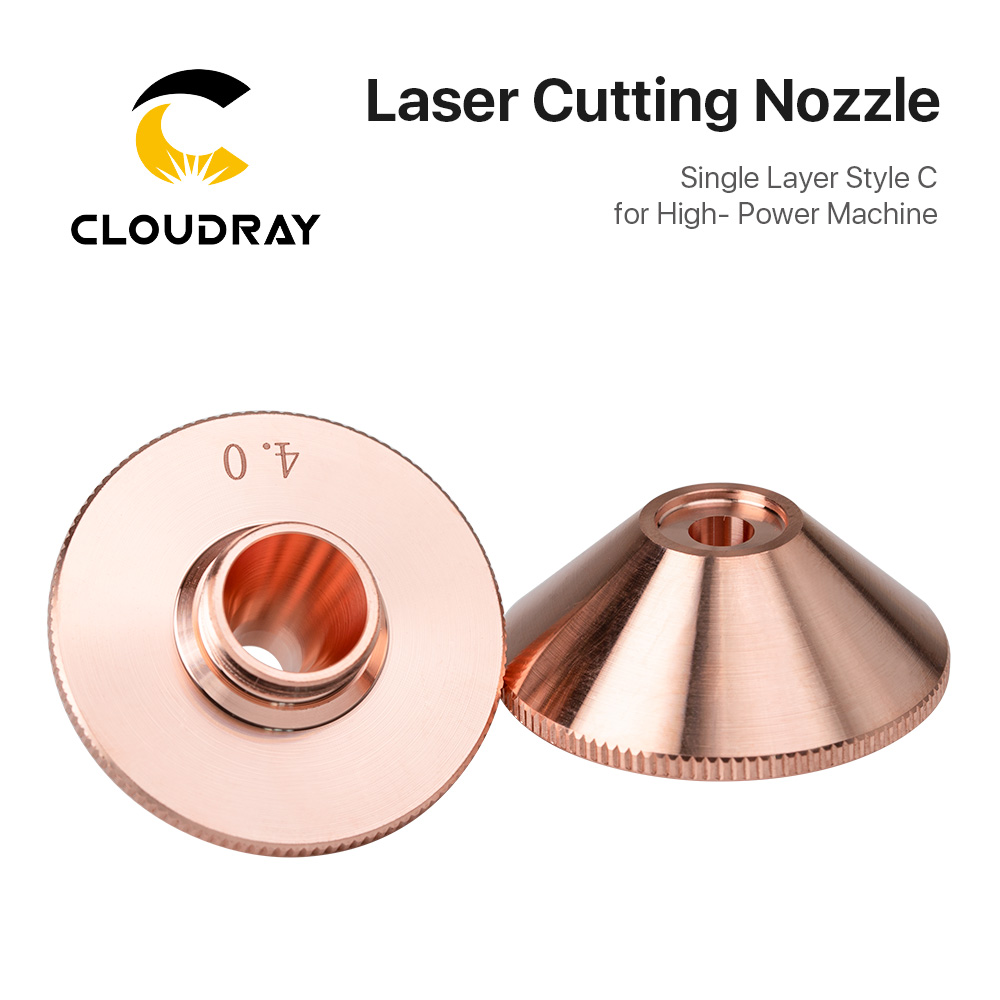 Cloudray Penta Laser Cutting Nozzles Single Layer Style C For High-Power Machine D28 M11 H15mm Caliber 3.5-6.0mm For Fiber Laser