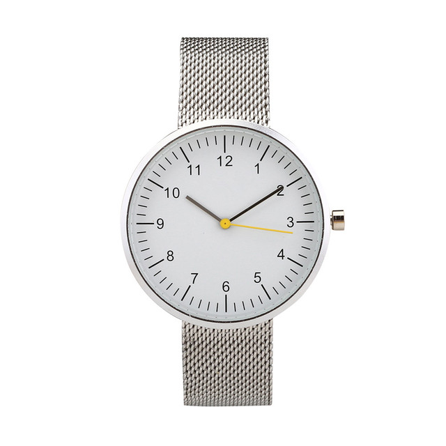 Stainless Steel Lovers Watches Case 40mm Strap Wide 18mm