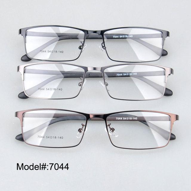 7044 Designer de óculos novos óculos de armação completa miopia óculos de metal prescrição óptica quadros
