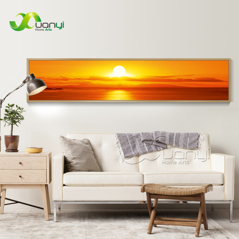 1 Piece Canvas Painting Seascape Wall Pictures For Living Room Sunset Seascape Paintings Modern Oil Art Home Decor Unframed
