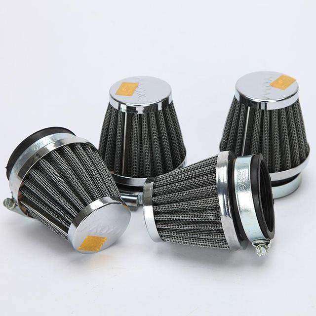 4 pcs 52mm universal mental de borracha da motocicleta moto substituição clamp-on air filter cleaner para yamaha kawasaki suzuki