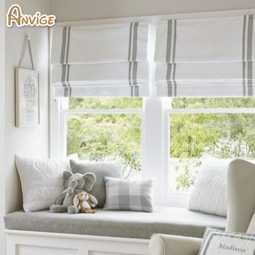 Modern 100 Cotton Fabric Diy Roman Shade Custom Shades Linen Window Blinds Handmade Roman Shades Blinds Shades Shutters Aliexpress