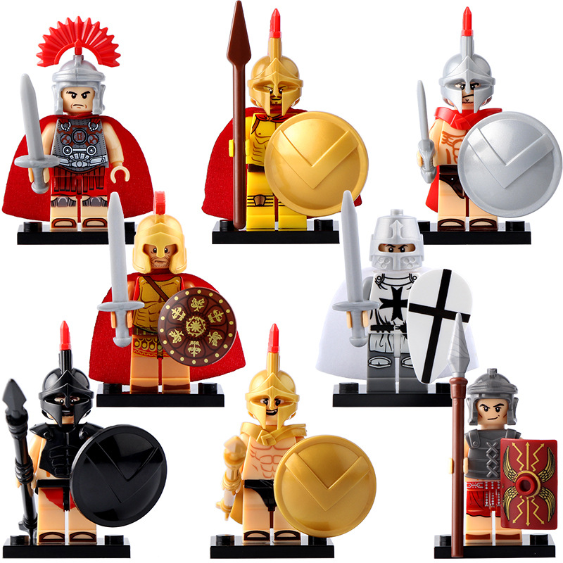 Hot Super Heroes Medieval Ritter GoINGly Bausteine Romischen Kommandant Spartacus Kreuzfahrer Ziegel Spielzeug Fur Kinder 203