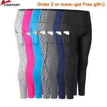 Новый Для женщин брюки «Капри» для йоги Высокоэластичный, для фитнеса Леггинсы Велоспорт Брюки Тонкий бег колготки спортивной спортивные штаны лосины Костюмы
