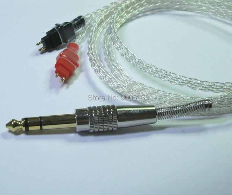 1.8m 6ft 수제 8 코어 4N OCC 플랫 브레이드 실버 도금 - 휴대용 오디오 및 비디오 - 사진 3