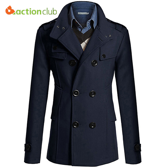 ACTIONCLUB Hot Sale Men Windbreaker Mens Trench Coat Men Coat ...