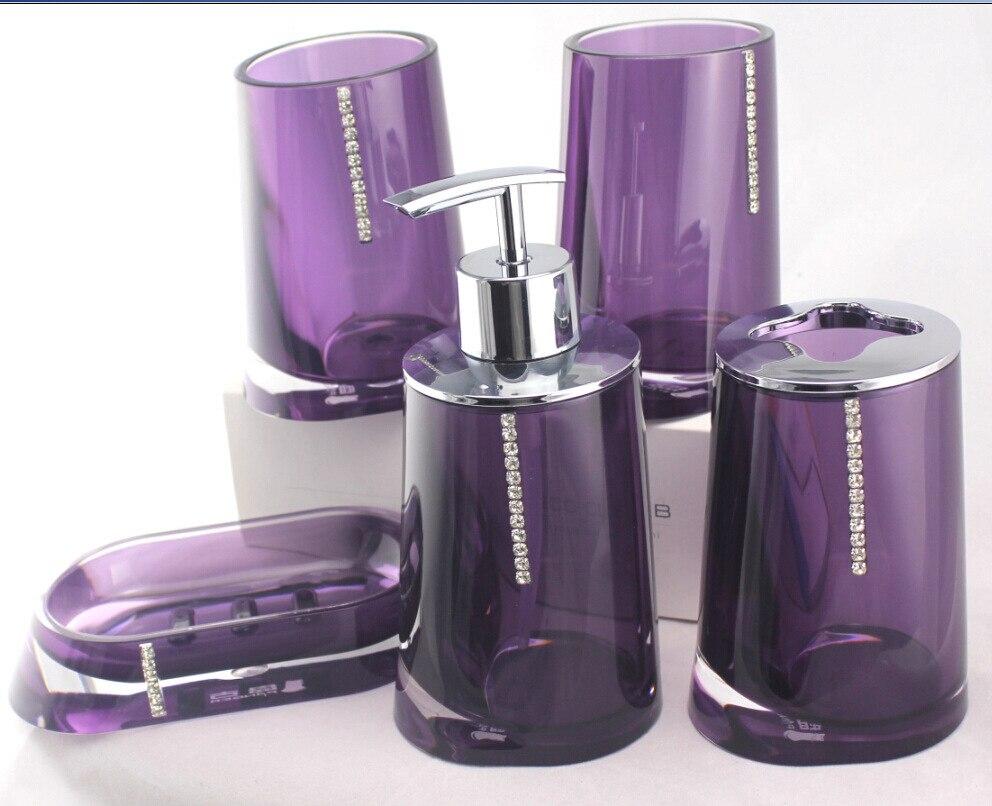 Purple Bathroom Accessories Set Popular Bathroom Accessories Purple Buy Cheap Bathroom Accessories