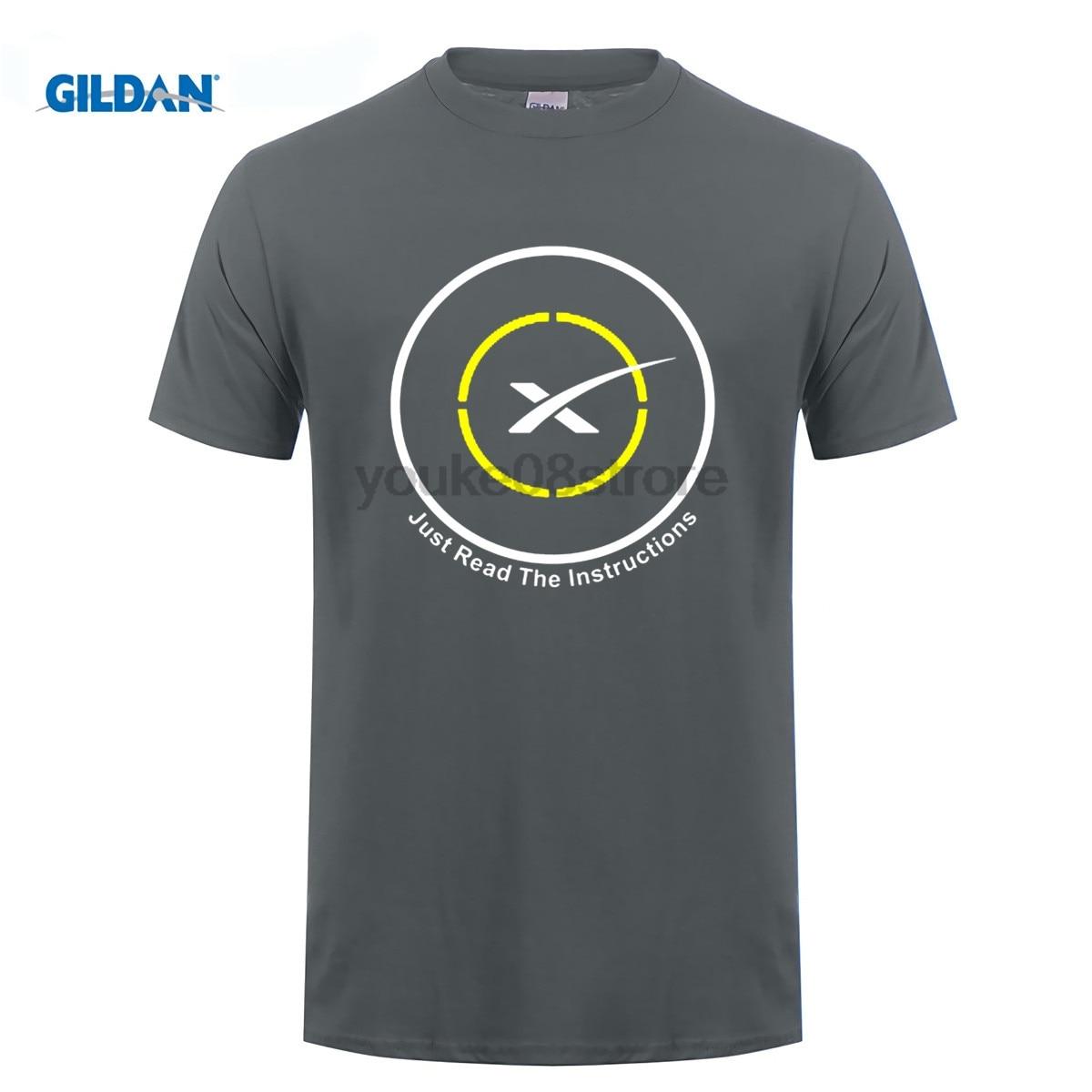 GILDAN Autonomous spaceport drone ship of SpaceX Just Read the Instructions T-Shirt Men  ...